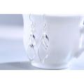 2015 new design 925 silver wrap wire dangle earring