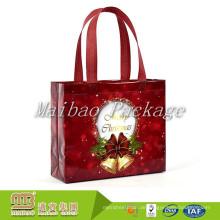 Nach Maß buntes Drucken Eco freundliche Geschenk-Einkaufsgewebe-Tasche dekorative Weihnachtsnichtgewebte Tasche