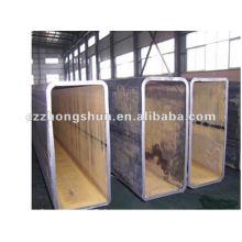 Tubo de acero rectangular / Q235 ASTM A53 A 234 API 5L DIN ACERO LATERAL, TUBO SOLDADO, INCONSÚTIL