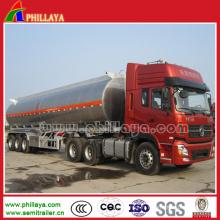 Remorque semi-remorque en aluminium de camion-citerne de carburant de lait de l'eau 30-60cbm 3axle