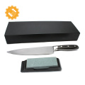 Stay Sharp Longer real German steel top 8 Inch kitchen Chef Knife professional with Sharpening Stone & Gift Box