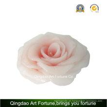 Handmade flor rosa vela para casamento festa decoração