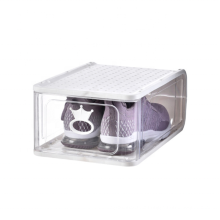 Thickened transparent moisture-proof large high-grade plastic removable folding shoe box storage dust-proof shoe cabinet