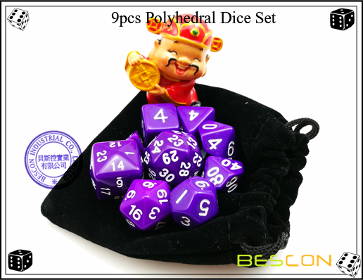 9pcs Polyhedral Dice Set-28