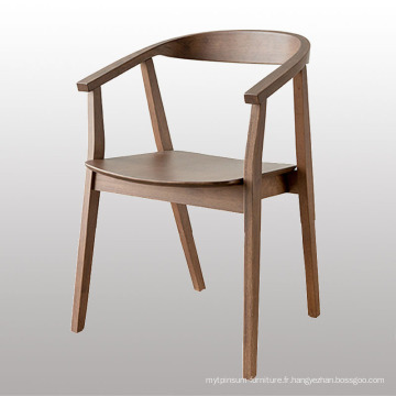 Chaise de salle à manger en bois de restaurant de conception moderne