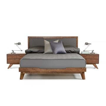 Nova Mid-Century Walnut Bed