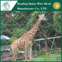 Red de malla de alambre de acero inoxidable para animales de zoológico