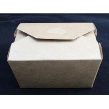 Caixa do macarronete da caixa do sushi da caixa da salada do papel de embalagem de Brown do produto comestível
