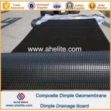 HDPE Dimple Membrane Waterproof Drainage Board 0.6mm 10mm 150g