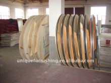 Banquet plywood round folding tables