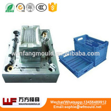 China supply quality products Fruit Vegetable plastic injection crate mould/folding plastic crate mold making