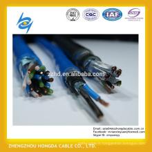 Fil de cuivre isolé par 450 / 750V PVC tressant blindé fil d'acier blindé instrument câble