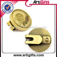 Античной плакировкой золота металла пустой мяч для гольфа маркер