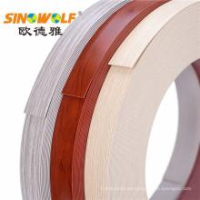 Tiras plásticas de las bandas de borde del PVC para los muebles de oficinas