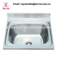 Lavabo à évier commercial avec évier et cuve unique en acier inoxydable Lavabo à 1 compartiment avec piètement en acier inoxydable