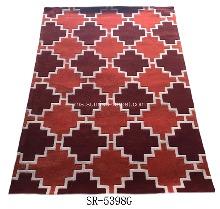 Tangan akrilik poliester Tufted Carpet