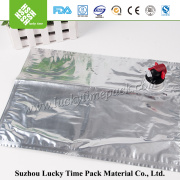 Liquid plastic bag one way valve with spout for milk/water/wine/juice