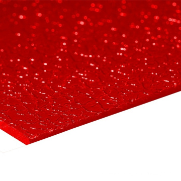 Feuille solide feuille acrylique feuilles solides feuille de polycarbonate feuille gaufré
