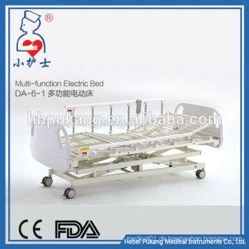 DA-6-1 China Fabrikverkauf Multifunktionskrankenhausbett / medizinisches Notfall justierbares elektrisches Bett / T-Bewegungsmotor elektrisches Bett