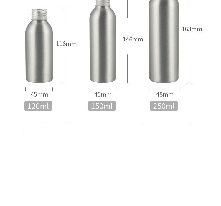 Aluminum bottle cosmetic bottle with aluminum cap screw (7)