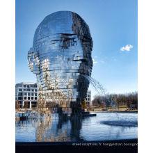fontaine d'eau en miroir Metalmorphosis by David