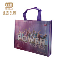 Factory Custom Own Brand Logo Reusable Shopping Advertising Laminating Non Woven Bags In Dubai