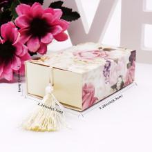 Boîte de papier d'emballage de cadeau de dessin de fleur de luxe