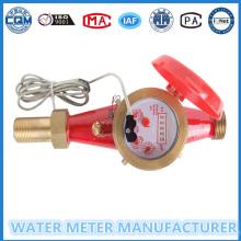 Многопоточный измеритель горячей воды с импульсным выходом