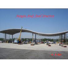 Galvanized Steel Space Frame Truss Toll Station