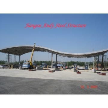 Galvanized Steel Space Frame Truss Toll Station