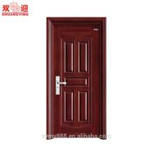 Puerta de acero de bajo precio puertas interiores correderas diseños de puertas para los hogares