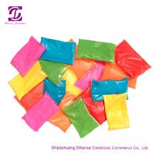 Colored cornstarch powder for color run event