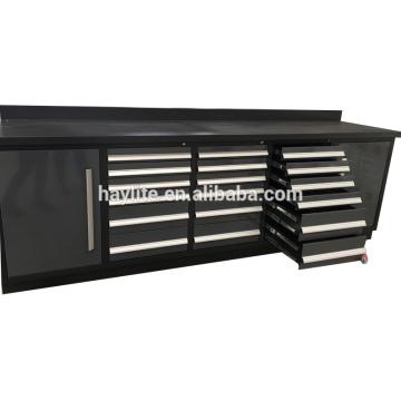 Établi en métal enduit de poudre bon marché de haute qualité avec des tiroirs à vendre