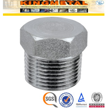 3000lbs NPT Stainless Steel Pipe Fittings Hex Head Plug