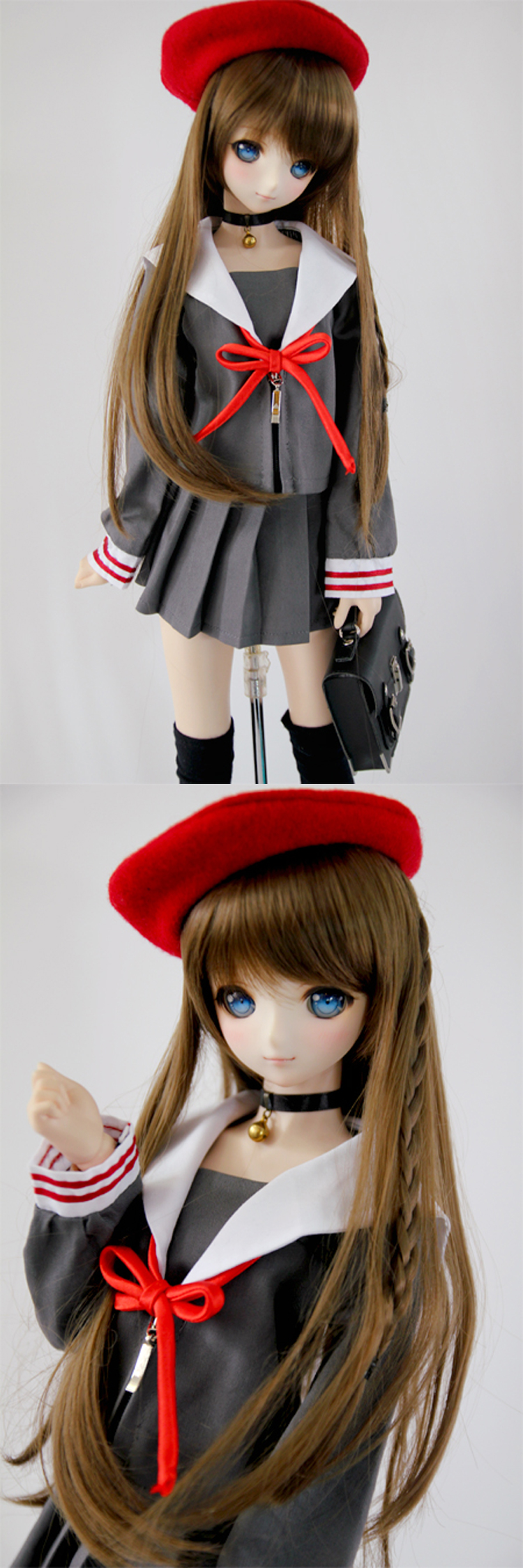 BJD Red Beret Hat For SD