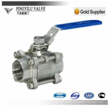 3-piece carbon steel ball valve or 304 ss ball valve
