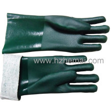 Fully Dipped Green PVC Working Chemical Hand Safety Gloves