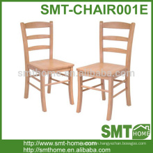 Simple cheap natural ladder back indoor chair wood