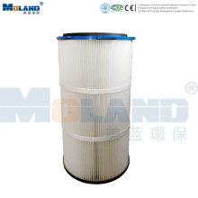 Cartucho de filtro plisado de PTFE para colector de polvo