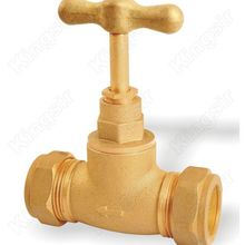 Brass Stop Valve with Ferrule Connection