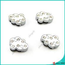 Weiße Emaille Wolke 8mm Slider Charms für DIY Schmuck (SC16041903)
