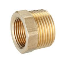 Adaptateur de tuyau d'usinage en acier avec placage de zinc jaune