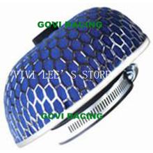 Filtro de aire de la esponja del coche con la malla del hierro de 76m m azul universal para la pipa de la entrada de aire del coche
