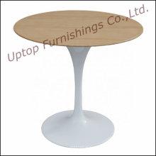 Mesa redonda elegante da tulipa da parte superior da madeira para a venda (SP-GT389)