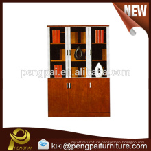 Universal wooden filing cabinet design with three doors