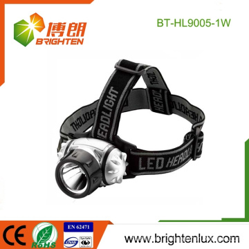Factory Wholesale Cheap ABS Plastic High Bright 1watt Led Mining Headlamp with good Head Strap