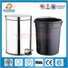 stainless steel industrial steel waste bin