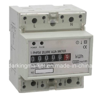 Multi-Tariff eléctrico metro de riel DIN para Smart Home