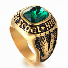 Moda due aquila Diamond Ring verde