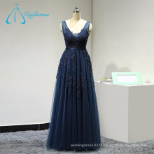 Tulle Sequined Beading Robe sans manches Women Evening
